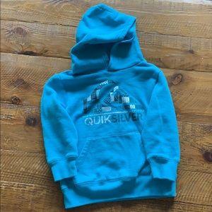 Quicksilver Turquoise Hooded Sweatshirt Sz 4